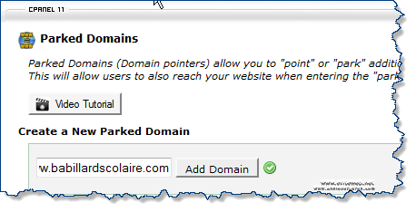 Wordpress Multisites parked domain Cpanel add