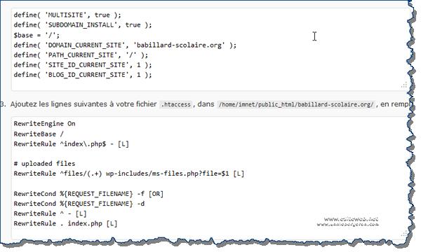 Wordpress Multisites configuration sous-domaine