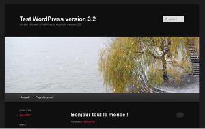 Nouveau thème Twenty eleven pour WordPress 3.2