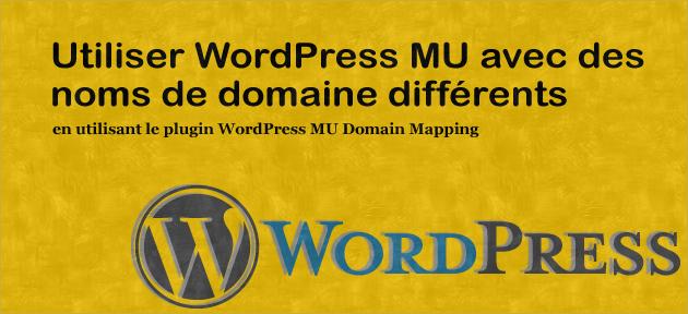 Utiliser WordPress MU avec des noms de domaine différents