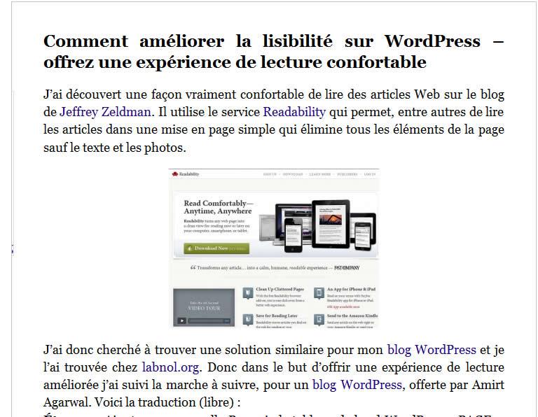 Améliorer la lisibilité sur votre blog WordPress